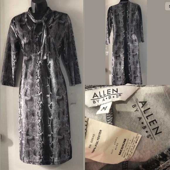 ff5736c9026 ABS by Allen B. Schwartz animal print sheath dress